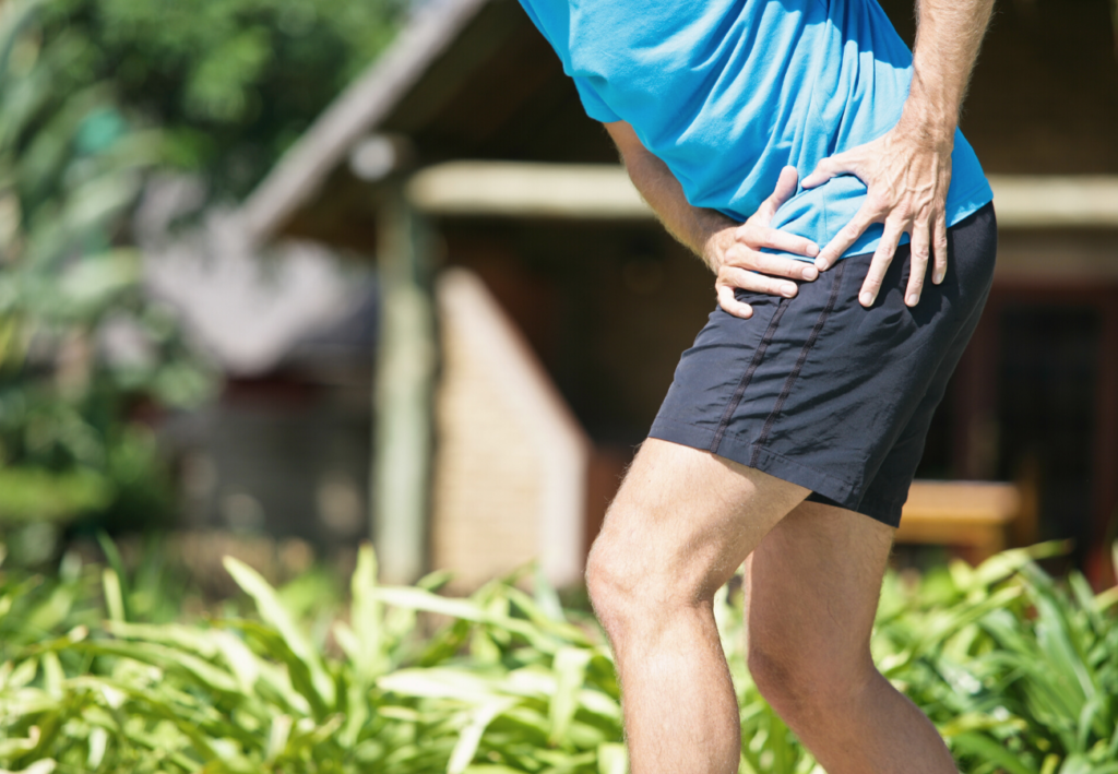 Man suffering from hip pain